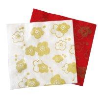 紅白の 「梅の花」 紙ナプキン