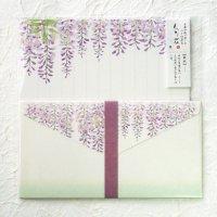 春の季節のレターセット 「旬花」 藤