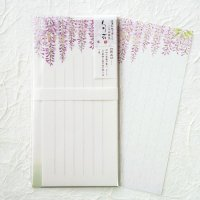 春の季節の一筆箋 封筒付 「旬花」 藤