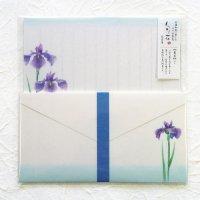 初夏のレターセット 「旬花」 花菖蒲