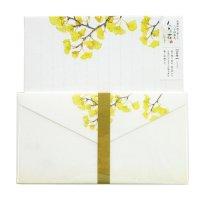 秋〜冬のレターセット 「旬花」 いちょう