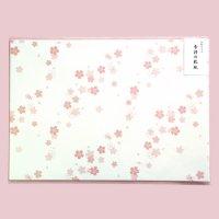桜の敷き紙 印刷できる A4 ランチョンマット