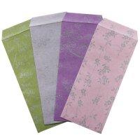 日本の色と「花小紋」の柄が素敵な 封筒 のし袋にも