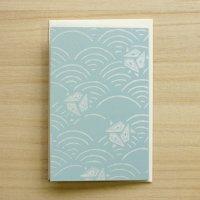 京からかみ 伝統文様のカード 「波に鱗鶴」