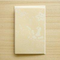 京からかみ 伝統文様のカード 「鳳凰蝶唐草」