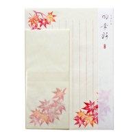 四季彩 秋のレターセット 紅葉