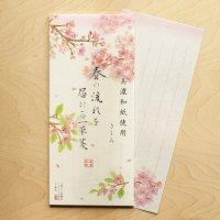 美濃和紙 春の流れを届ける 桜の一筆箋