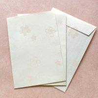 小さな 桜の花の封筒  「みよしの」