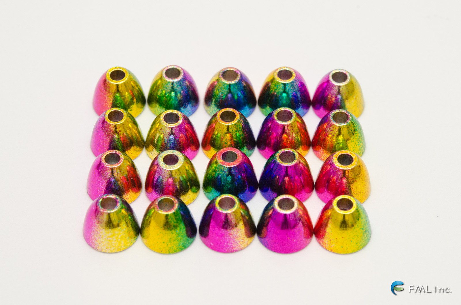 <img class='new_mark_img1' src='https://img.shop-pro.jp/img/new/icons57.gif' style='border:none;display:inline;margin:0px;padding:0px;width:auto;' />HARELINE DUBBIN Rainbow Brass Cones (RC)