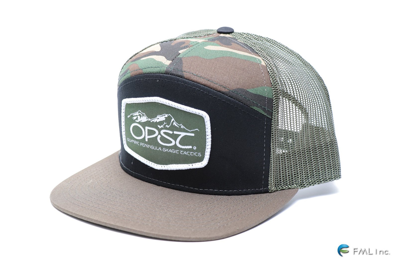 <img class='new_mark_img1' src='https://img.shop-pro.jp/img/new/icons5.gif' style='border:none;display:inline;margin:0px;padding:0px;width:auto;' />OPST 7 Panel Camo Trucker Hat -Snapback