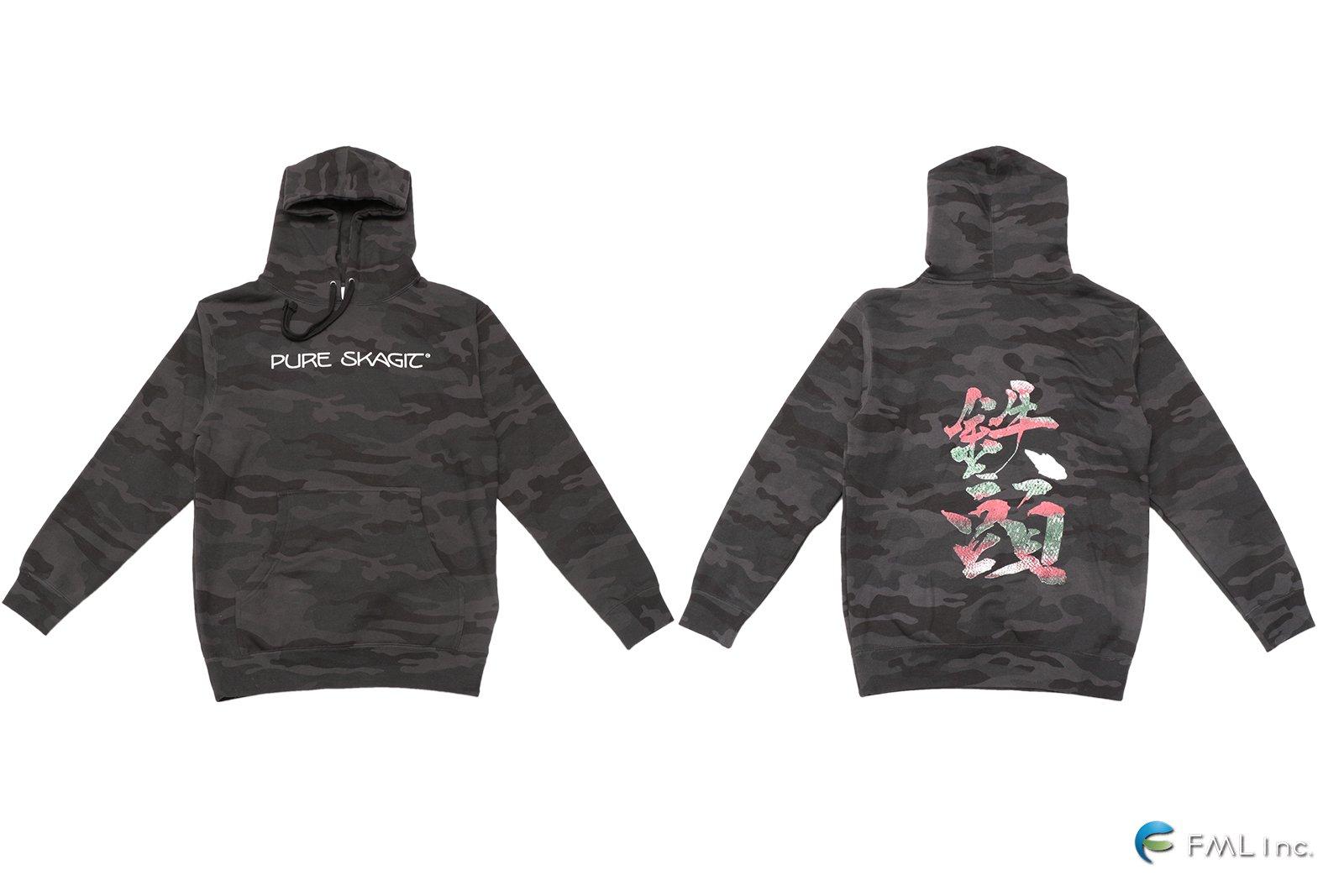 <img class='new_mark_img1' src='https://img.shop-pro.jp/img/new/icons5.gif' style='border:none;display:inline;margin:0px;padding:0px;width:auto;' />OPST Tetsu Atama Steelhead Hoodie (black camo pure skagit logo)