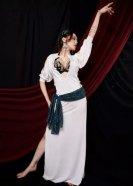 ベリーダンス衣装バラディドレスコスチューム白グッズ格安通販 3