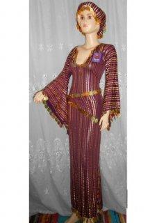 ベリーダンス衣装■エジプト製 紫サイディ ドレス コスチューム 格安 通販 5