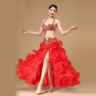 ベリーダンス衣装■コスチューム ピンク 水色 赤 オリエンタル 格安 販売 46