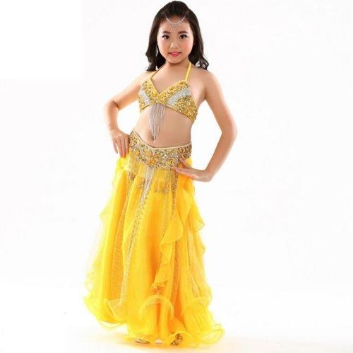 ベリーダンス衣装 □子供 キッズ アラビアン 舞台 ドレスセット グッズ 激安 通販 10