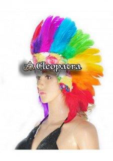 ベリーダンス衣装★ゴージャスな羽髪飾りヘットドレスグッズ激安販売 12