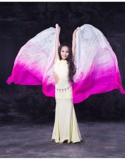 ベリーダンス▼子供キッズ用高級シルクベールステージグッズ安いショップ 12