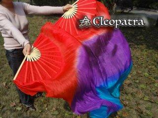 ファンベールベリーダンス道具扇子赤紫色ターコイズグッズ格安販売 11