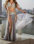 エジプト産オーダーメイドベリーダンス衣装クールグレーグッズ激安ショップ 17