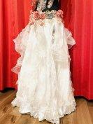 ベリーダンス衣装ゴージャスなスカートコスチューム服ドレスコーラスグッズ販売白