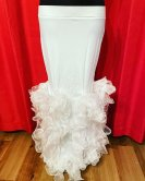 ベリーダンス衣装ゴージャスなスカートコスチュームマーメイドドレスコーラスグッズ販売白
