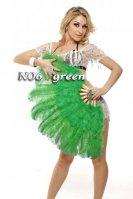 ベリーダンス緑フェザーファン バーレスク 羽 扇子 道具 安い ショップ