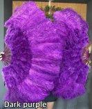 大ダーク紫バーレスクショーダンスベリーダンスフェザーファン羽扇子道具パフォーマンス激安ショップ 3
