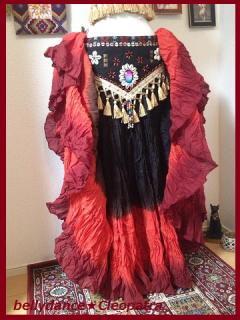 ベリーダンス衣装★25ヤード スカート コットン ジプシー コスチューム インド製 通販 ショップ 2