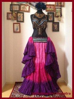 ベリーダンス衣装▼25ヤード スカート ジプシー コスチューム コットン インド製 おすすめ 3