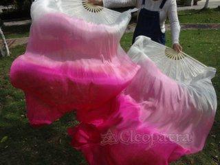 ベリーダンス■扇子 ファンベール 道具 ピンク silk 左右セット 通信販売 26