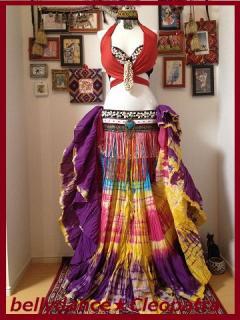インド限定●ベリーダンス衣装 25ヤードスカート ジプシー コスチューム 画像 格安 店舗 12