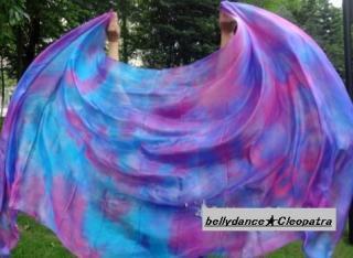 ベリーダンス■ベール 道具 シルク100% 衣装 ブルー グッズ 激安 ショップ 13