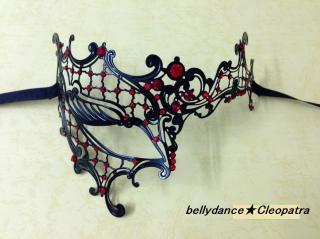 ベリーダンス衣装★ファントムマスク 仮面 アイマスク パーティー 舞台 バーレスク ステージ 通販 2
