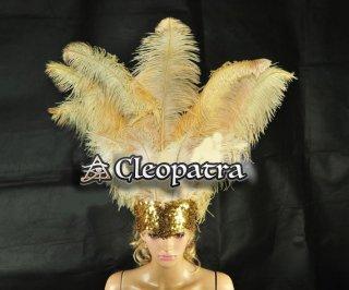 ベリーダンス衣装★羽 髪飾り サンバ 舞台 アクセサリー トライバル グッズ 格安 販売 4