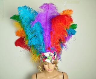 ベリーダンス衣装★羽 髪飾り サンバ 舞台 アクセサリー トライバル グッズ 格安 販売 8