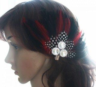 ベリーダンス衣装●羽 フェザー 髪飾り クリップ アクセサリー トライバル ボヘミアン グッズ ショップ 15
