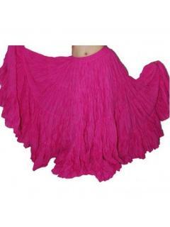 ベリーダンス●35ヤードスカート ジプシー 衣装 トライバル コスチューム ピンク 新品 発売 12