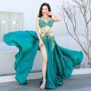 ベリーダンスオリエンタルダンスショードレス赤グレーブラジャー + スカート (パンツ)20