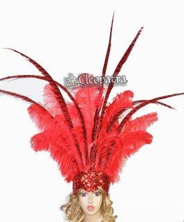 ベリーダンス衣装★羽 髪飾り サンバ 舞台 アクセサリー トライバル グッズ 格安 販売 19