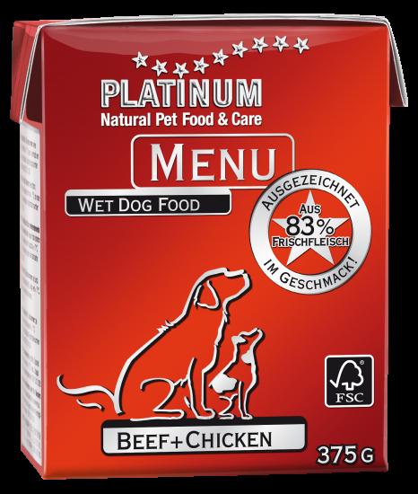 プラチナム MENU ウェットフード ビーフ+チキン