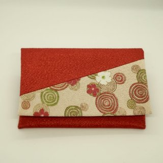 念珠袋 サーモンピンク 波紋