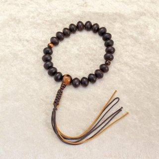 みかん玉 縞黒檀 トラメ石 正絹紐房