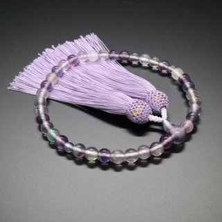 ホタル石 正絹花かがり房