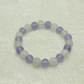 ブレス念珠 カルサイト(白) ジェード(薄紫)