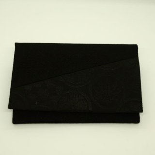念珠袋 黒 紋
