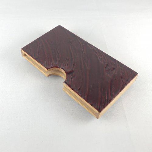 木製名刺ケース 漆塗り(模様B:赤)