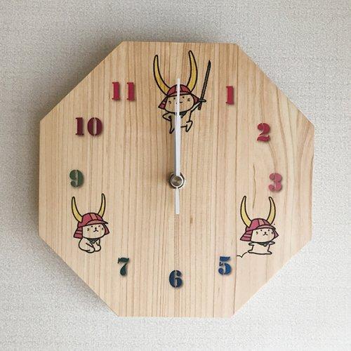 ひこにゃん 木製掛け時計(八角形)20mm厚 A