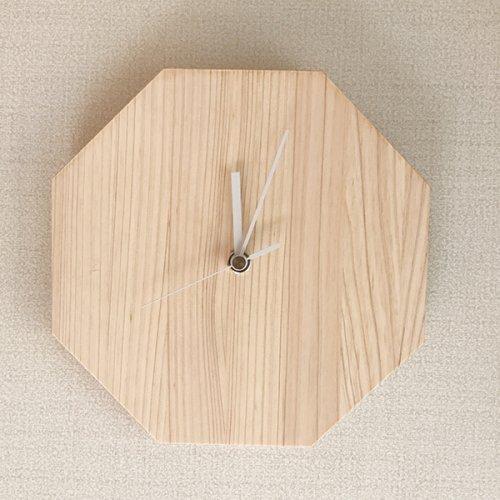 木製掛け時計(八角形M)無地20mm厚