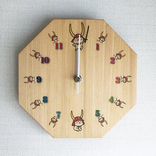 ひこにゃん 木製掛け時計(八角形)20mm厚 B