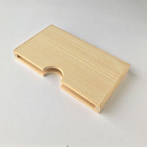 木製名刺ケース(ひのき)無地